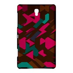 Brown Pink Blue Shapes samsung Galaxy Tab S (8 4 ) Hardshell Case by LalyLauraFLM
