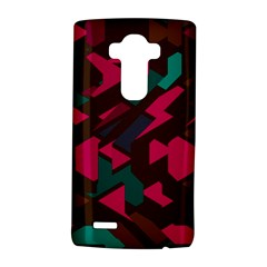 Brown Pink Blue Shapes lg G4 Hardshell Case by LalyLauraFLM