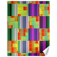 Vertical And Horizontal Stripes canvas 12  X 16  by LalyLauraFLM