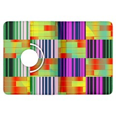 Vertical And Horizontal Stripes kindle Fire Hdx Flip 360 Case by LalyLauraFLM