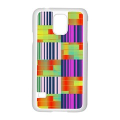 Vertical And Horizontal Stripes samsung Galaxy S5 Case (white)