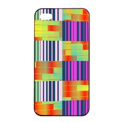 Vertical And Horizontal Stripes 			apple Iphone 4/4s Seamless Case (black) by LalyLauraFLM