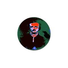 Edgar Allan Poe Pop Art  Golf Ball Marker (4 Pack) by icarusismartdesigns