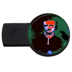 Edgar Allan Poe Pop Art  Usb Flash Drive Round (2 Gb)  by icarusismartdesigns