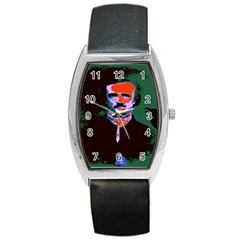 Edgar Allan Poe Pop Art  Barrel Metal Watches by icarusismartdesigns