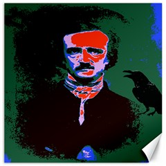 Edgar Allan Poe Pop Art  Canvas 16  X 16   by icarusismartdesigns