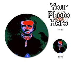 Edgar Allan Poe Pop Art  Multi Purpose Cards (round)  by icarusismartdesigns