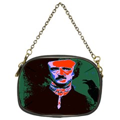 Edgar Allan Poe Pop Art  Chain Purses (one Side)  by icarusismartdesigns