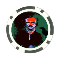 Edgar Allan Poe Pop Art  Poker Chip Card Guards (10 Pack)  by icarusismartdesigns