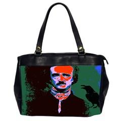 Edgar Allan Poe Pop Art  Office Handbags (2 Sides)  by icarusismartdesigns