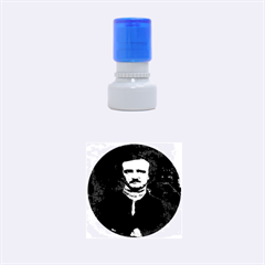 Edgar Allan Poe Pop Art  Rubber Round Stamps (small) by icarusismartdesigns