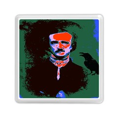 Edgar Allan Poe Pop Art  Memory Card Reader (square)  by icarusismartdesigns