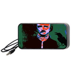Edgar Allan Poe Pop Art  Portable Speaker (black)  by icarusismartdesigns