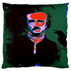 Edgar Allan Poe Pop Art  Large Cushion Cases (two Sides)  by icarusismartdesigns