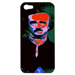 Edgar Allan Poe Pop Art  Apple Iphone 5 Hardshell Case by icarusismartdesigns