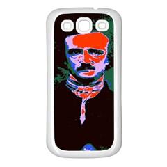 Edgar Allan Poe Pop Art  Samsung Galaxy S3 Back Case (white) by icarusismartdesigns