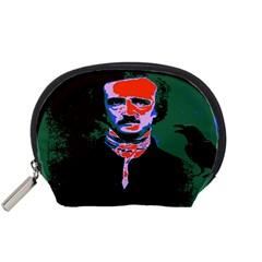 Edgar Allan Poe Pop Art  Accessory Pouches (small)  by icarusismartdesigns