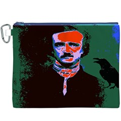 Edgar Allan Poe Pop Art  Canvas Cosmetic Bag (xxxl)  by icarusismartdesigns