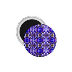 Blue White Abstract Flower Pattern 1 75  Magnets by Costasonlineshop