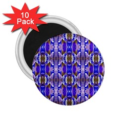 Blue White Abstract Flower Pattern 2 25  Magnets (10 Pack)  by Costasonlineshop