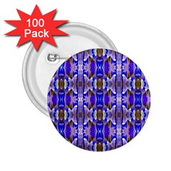 Blue White Abstract Flower Pattern 2 25  Buttons (100 Pack)  by Costasonlineshop