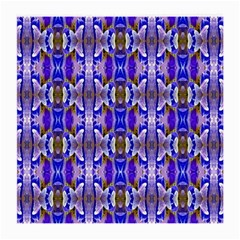 Blue White Abstract Flower Pattern Medium Glasses Cloth by Costasonlineshop