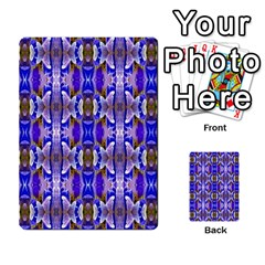 Blue White Abstract Flower Pattern Multi Purpose Cards (rectangle)  by Costasonlineshop