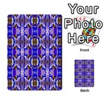 Blue White Abstract Flower Pattern Multi-purpose Cards (Rectangle)  Back 12