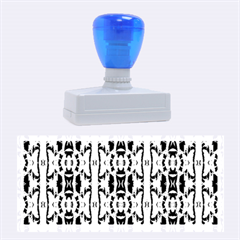 Blue White Abstract Flower Pattern Rubber Stamps (large) by Costasonlineshop