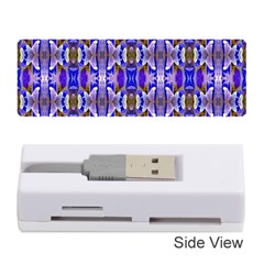 Blue White Abstract Flower Pattern Memory Card Reader (stick)  by Costasonlineshop
