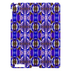 Blue White Abstract Flower Pattern Apple Ipad 3/4 Hardshell Case