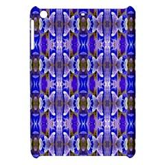 Blue White Abstract Flower Pattern Apple Ipad Mini Hardshell Case