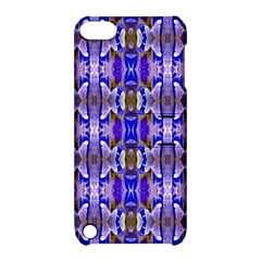 Blue White Abstract Flower Pattern Apple Ipod Touch 5 Hardshell Case With Stand
