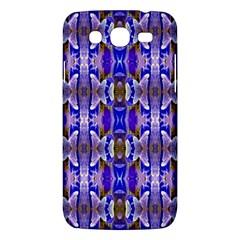 Blue White Abstract Flower Pattern Samsung Galaxy Mega 5 8 I9152 Hardshell Case  by Costasonlineshop