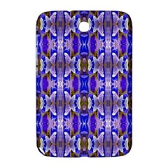 Blue White Abstract Flower Pattern Samsung Galaxy Note 8.0 N5100 Hardshell Case  by Costasonlineshop