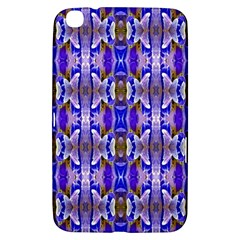 Blue White Abstract Flower Pattern Samsung Galaxy Tab 3 (8 ) T3100 Hardshell Case  by Costasonlineshop