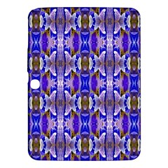 Blue White Abstract Flower Pattern Samsung Galaxy Tab 3 (10 1 ) P5200 Hardshell Case