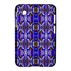 Blue White Abstract Flower Pattern Samsung Galaxy Tab 2 (7 ) P3100 Hardshell Case