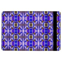 Blue White Abstract Flower Pattern Ipad Air 2 Flip