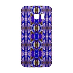 Blue White Abstract Flower Pattern Galaxy S6 Edge by Costasonlineshop