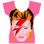 bowie womans tee - Women s V-Neck Cap Sleeve Top