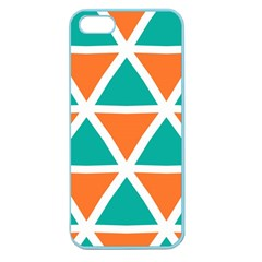 Orange Green Triangles Pattern 			apple Seamless Iphone 5 Case (color) by LalyLauraFLM