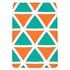 Orange Green Triangles Pattern 			removable Flap Cover (l) by LalyLauraFLM