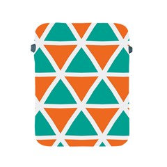 Orange Green Triangles Pattern apple Ipad 2/3/4 Protective Soft Case by LalyLauraFLM
