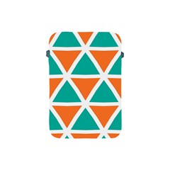 Orange Green Triangles Pattern apple Ipad Mini Protective Soft Case by LalyLauraFLM