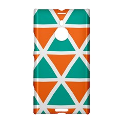 Orange Green Triangles Pattern 			nokia Lumia 1520 Hardshell Case by LalyLauraFLM