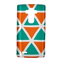 Orange Green Triangles Pattern 			lg G4 Hardshell Case by LalyLauraFLM