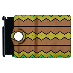 Rhombus And Waves 			apple Ipad 3/4 Flip 360 Case by LalyLauraFLM