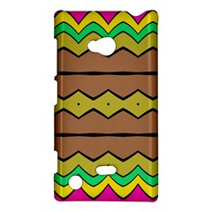 Rhombus And Waves 			nokia Lumia 720 Hardshell Case by LalyLauraFLM