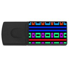 Rectangles and stripes USB Flash Drive Rectangular (2 GB) by LalyLauraFLM